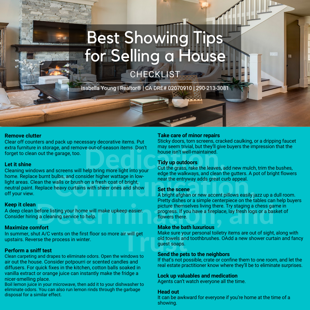 Best Showing Tips for selling your house