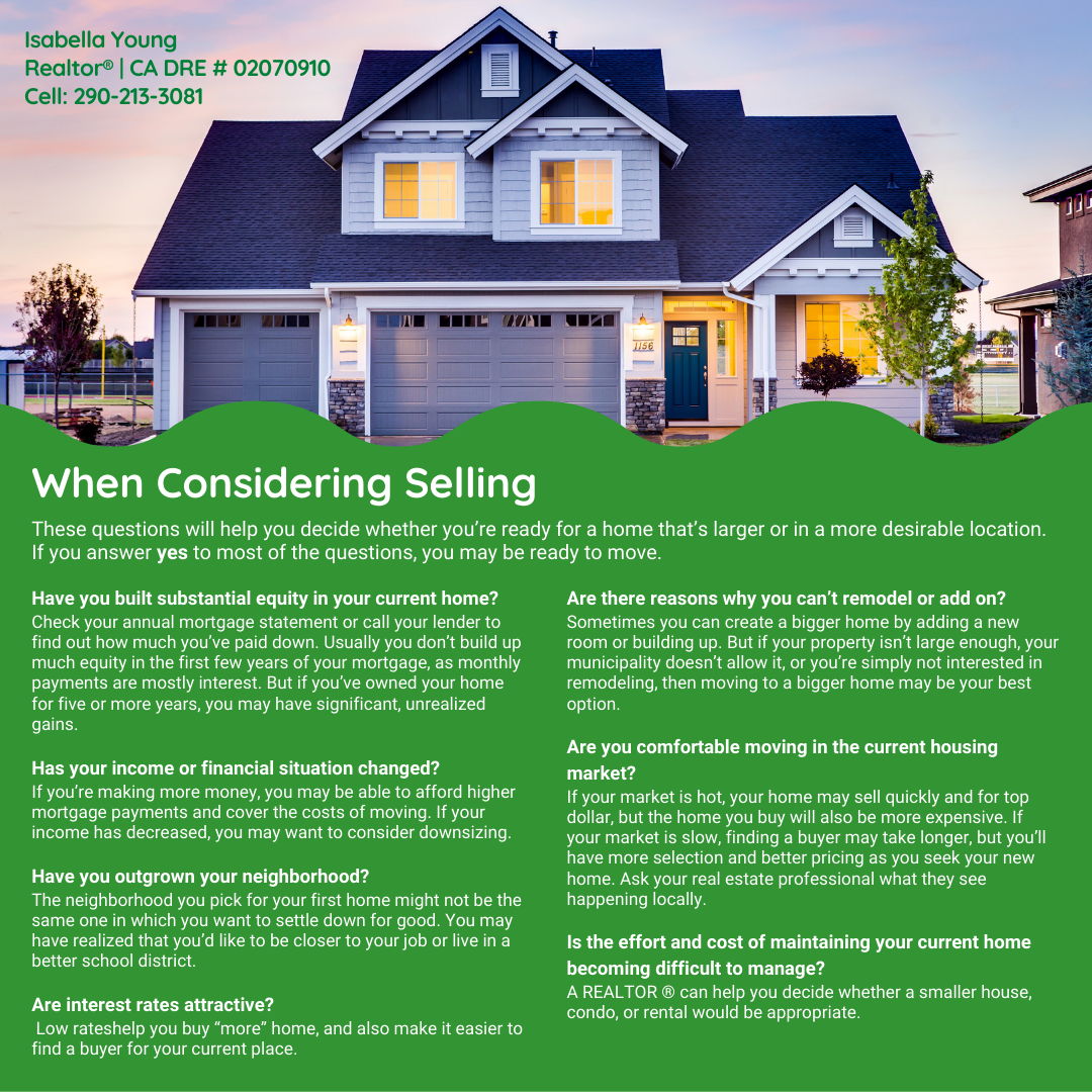 When Considering Selling